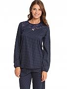 CALIDA Crispy Dots Pyjama mit schmalen Bündchen