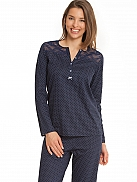 CALIDA Crispy Dots Pyjama lang