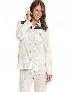 CALIDA Crispy Dots Schlafanzug geknöpft