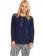 CALIDA Smoothy Stripes Schlafanzug