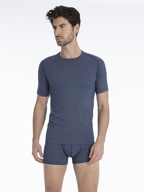 calida motion funktions t shirt blau calida online shop. Black Bedroom Furniture Sets. Home Design Ideas